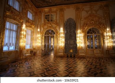 Katherine's Palace hall in Tsarskoe Selo (Pushkin), Russia