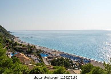 Kathisma Beach, Lefkada Island, Greece. Kathisma Beach is one of the best beaches in Lefkada Island in Ionian Sea