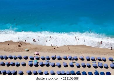 Kathisma  Beach On the Island of Lefkada