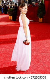 Kathleen Robertson at the 60th Primetime EMMY Awards held at the Nokia Theater in Los Angeles, California, United States on September 21, 2008.