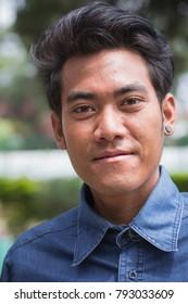 Kathmandu, Nepal. 16 Jun 2017. Documentary. Portrait of unidentified nepalese man on the street.