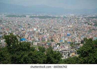 Kathmandu, Nepal, circa may 2017: View on Kathmandu city, Nepal