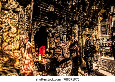 KATHMANDU, NEPAL - December 25, 2017 : Nepal People come to pay worship in the temple.