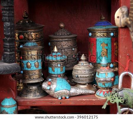 Kathmandu Nepal Feb 02 Shop Traditional Stock Photo Edit Now