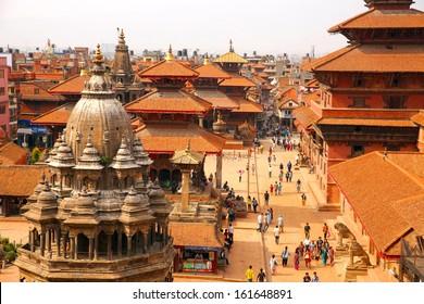 KATHMANDU, NEPAL - JUNE 2013: Patan Durbar Square
