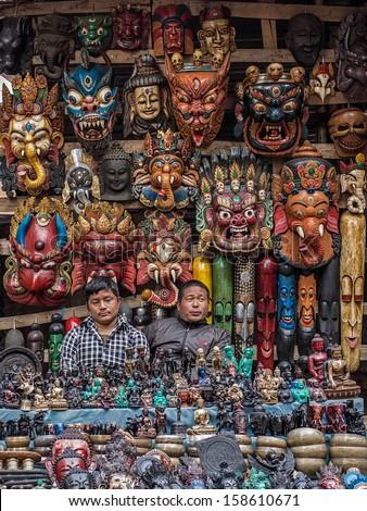 Kathmandu Nepal March 8 Shop Keepers Stock Photo Edit Now