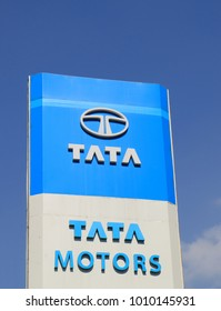 KATHMANDU NEPAL - NOVEMBER 10, 2017: TATA Motors Indian car manufacturer.