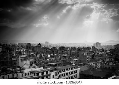 Kathmandu from the Palace