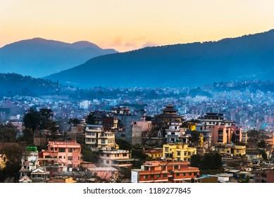 Kathmandu Skyline, Kathmandu City, Kahmandu Viewpoint, Nepal