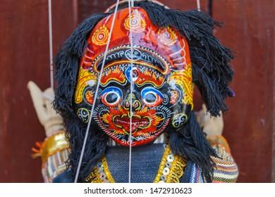 Kathmandu/Nepal. taken on 05/23/2017 A weird puppet doll on the streets of Kathmandu Nepal