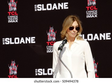 Kathryn Bigelow at Jessica Chastain Hand And Footprint Ceremony held at the TCL Chinese Theatre in Hollywood, USA on November 3, 2016.