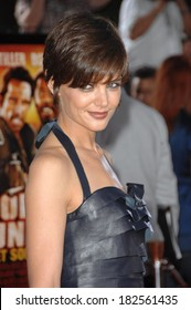 Katie Holmes, wearing a Holmes Yang dress, at Los Angeles Premiere of TROPIC THUNDER, Mann's Village Theatre in Westwood, Los Angeles, CA, August 11, 2008