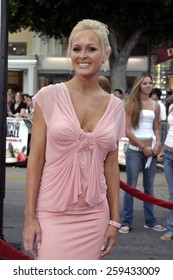 """Katie Lohmann at the Los Angeles premiere of """"Dodgeball"""" held at the Mann Village Theater in Westwood, California, United States on June 14, 2004."""