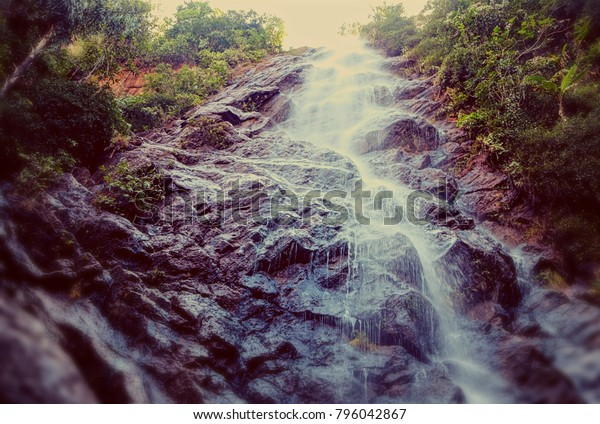 Katiki waterfalls in South India