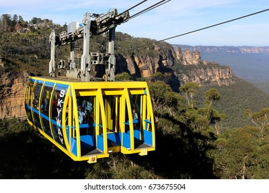 KATOOMBA, AUSTRALIA - MAY 1, 2017:Skyway at Scenicworld in the Blue Mountains, Australia. s region