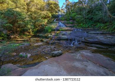 katoomba cascades, blue mountains national park, katoomba, new south wales, australia