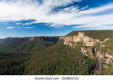Katoomba Falls with rainbow, Katoomba, Blue Mountains, Australia