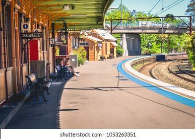 Katoomba, NSW/Australia - 30 October 2017: Train station in Katoomba