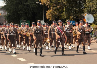 Katowice, Poland - August 15, 2019: Military Parade in Katowice during the celebration of Armed Forces Day in Poland.