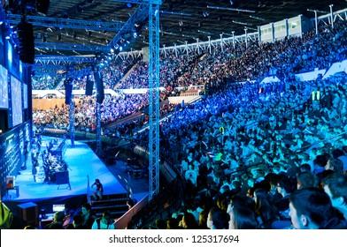 "KATOWICE, POLAND - JANUARY 19: ""Azubu"" clan at Intel Extreme Masters 2013 - Electronic Sports World Cup on January 19, 2013 in Katowice, Silesia, Poland."