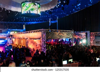 KATOWICE, POLAND - JANUARY 19: Exposition at Intel Extreme Masters 2013 - Electronic Sports World Cup on January 19, 2013 in Katowice, Silesia, Poland.