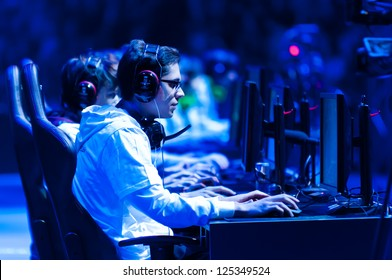 KATOWICE, POLAND - JANUARY 20: Darien (Gambit Gaming) plays LOL at Intel Extreme Masters 2013 - Electronic Sports World Cup on January 20, 2013 in Katowice, Silesia, Poland.