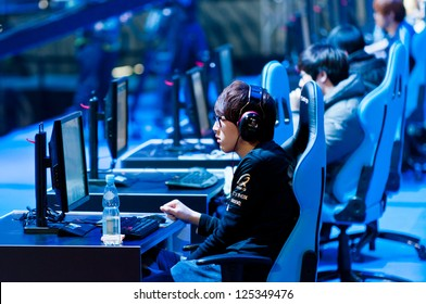 KATOWICE, POLAND - JANUARY 20: First plays semifinals at Intel Extreme Masters 2013 - Electronic Sports World Cup on January 20, 2013 in Katowice, Silesia, Poland.