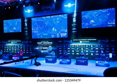 KATOWICE, POLAND - JANUARY 20: Tournament stage at Intel Extreme Masters 2013 - Electronic Sports World Cup on January 20, 2013 in Katowice, Silesia, Poland.