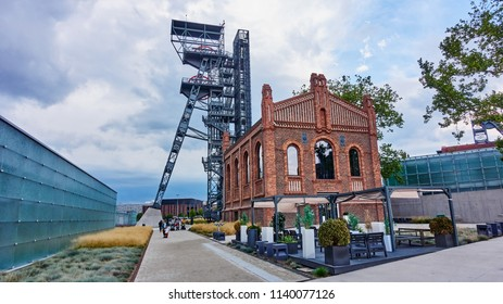 KATOWICE, POLAND - JULY 13, 2018 The new Silesian Museum on 13 July 2018 in Katowice, Poland. The Silesian Museum is the largest regional museum in Katowice