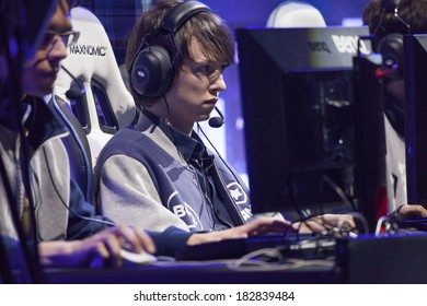 KATOWICE, POLAND - MARCH 16: Diamond from Gambit Gaming at Intel Extreme Masters 2014 (IEM) - Electronic Sports World Cup on March 16, 2014 in Katowice, Silesia, Poland.
