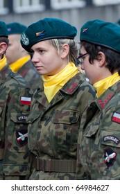 KATOWICE, POLAND - NOV 11: Polish Independence Day on NOVEMBER 11, 2010 in Katowice, Silesia, Poland.