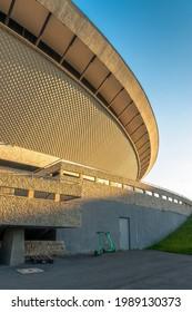Katowice, Silesia, Poland; June 4, 2021: View on the Spodek Arena