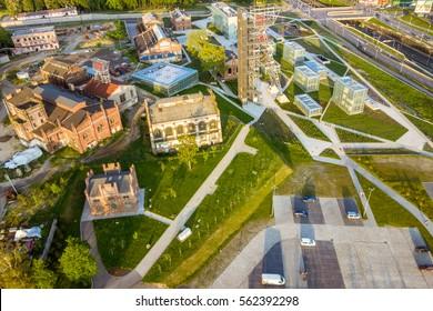 KATOWICE,POLAND - JUNE 03, 2015: view of Katowice Poland, The Silesian Museum in Katowice