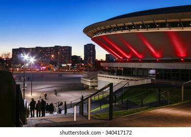 KATOWICE,POLAND - OCTOBER 17, 2015: Spodek - a multipurpose arena complex in Katowice, Poland.