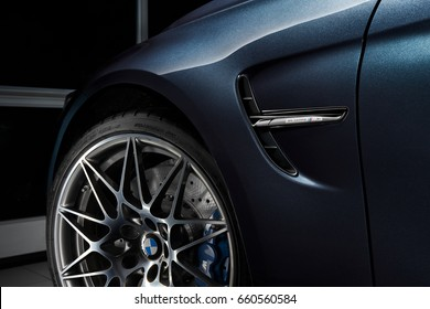 """Katowice/Poland-12.03.2016:  20"""" forged rims of BMW M3 30 Jahre Edition - Limited edition 500 car. Engine - 450 HP"""