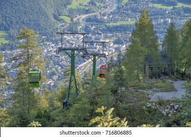 Katrin cable car and Kaisers Ansitz viewpoint over Bad Ischl