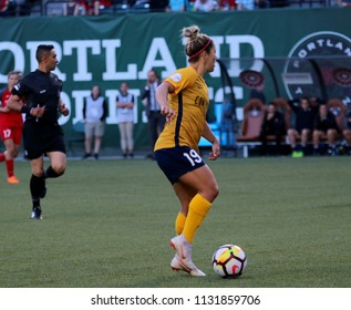 Katrina Gorry midfielder for the Utah Royals FC at Providence Park  in Portland,OR USA July 6,2018.
