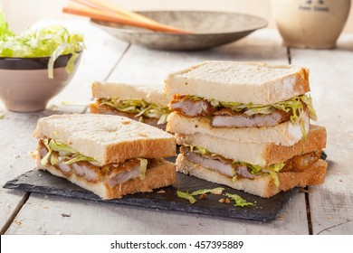 Katsu Sando, a popular Japanese sandwich with pork cutlet.