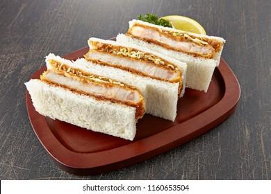 Katsu Sando (Pork cutlet sandwich,japanese food)