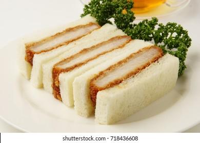 Katsu Sando, Pork cutlet sandwich,japanese food