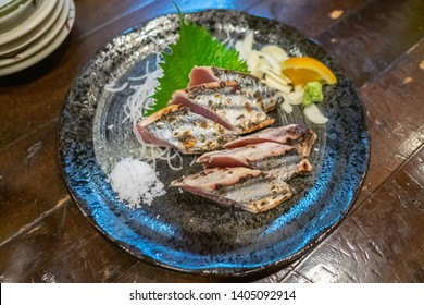 Katsuo tataki is the most famous dish in Kochi, made with bonito or skipjack tuna that's seared on the outside and served rare in the center.
