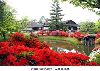 Katsura Imperial Villa in Kyoto in Spring
