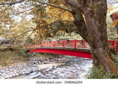 Katsura River and Katsura Bridge in Shuzenji Onsen Town