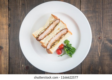 katsu-sand, japanese pork cutlet sandwich