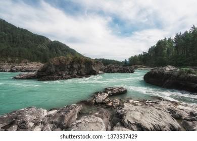 Katun river, in the Altai mountains, Siberia Russia