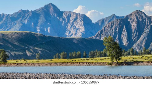 The Katun River in the Altay Mountains