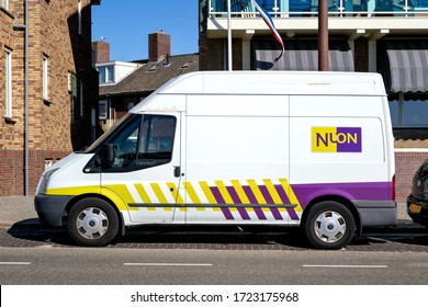 KATWIJK AAN ZEE, THE NETHERLANDS - JULY 3, 2019; Ford Transit van of Nuon. Nuon Energy (now Vattenfall Nederland) is a utility company based in Amsterdam, The Netherlands.