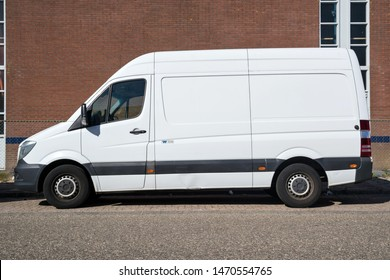 KATWIJK AAN ZEE, THE NETHERLANDS - JUNE 29, 2019: Mercedes-Benz Sprinter. The Mercedes-Benz Sprinter is a light commercial vehicle built by Daimler AG of Stuttgart, Germany.