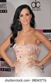 Katy Perry at the 2010 American Music Awards at the Nokia Theatre L.A. Live in downtown Los Angeles. November 21, 2010  Los Angeles, CA Picture: Paul Smith / Featureflash