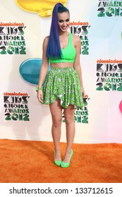 Katy Perry at the 2012 Nickelodeon Kids' Choice Awards, Galen Center,  Los Angeles, CA 03-31-12
